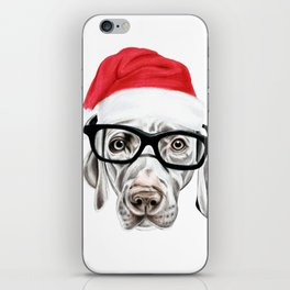 Christmas Weimaraner iPhone Skin