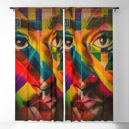 African American Oil Painting 26th Street Miami, Florida Mural 'Legends of Hip Hop' Blackout Curtain