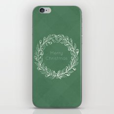 Simple Christmas Wreath iPhone & iPod Skin