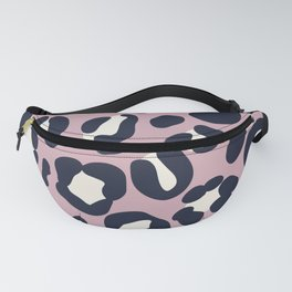 Mauve and Ivory Leopard Fanny Pack