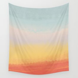 Ceramic Sunset // Multi Color Speckled Drip Summer Beach California Surf Vibes Wall Hanging Design Wall Tapestry