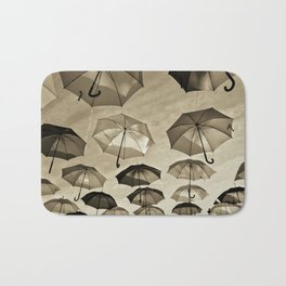 Umbrella sky - B/W Bath Mat