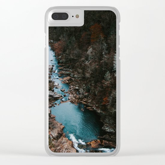 Blue Creek #landscape #society6 Clear iPhone Case