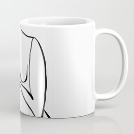 Female Figure Line Art Coffee Mug