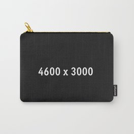 3000x2400 Placeholder Image Artwork (Squarespace Black) Carry-All Pouch
