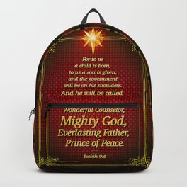 For to us a child is born . . . Backpack