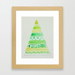 All the greens Christmas tree Framed Art Print
