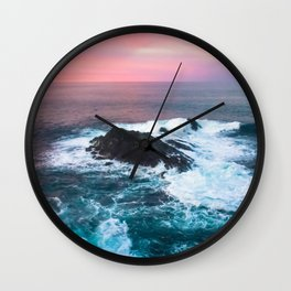 Sunset on the Bay of Biscay Wall Clock
