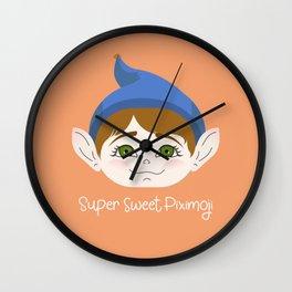 Cuty pie Piximoji Badge Style Wall Clock