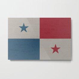 Panama Stone Wall Flag Metal Print