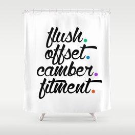 flush offset camber fitment v5 HQvector Shower Curtain