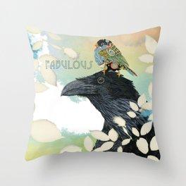 Feeling Fabulous Birds Throw Pillow