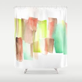 [161228] 15. Abstract Watercolour Color Study  |Watercolor Brush Stroke Shower Curtain