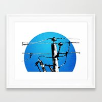 transformer Framed Art Prints featuring Transformer Sky by Rebecca Joy - Joy Art and Design