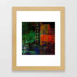 A night in Chicago Framed Art Print
