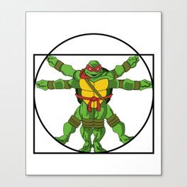 Vitruvian Turtle Canvas Print