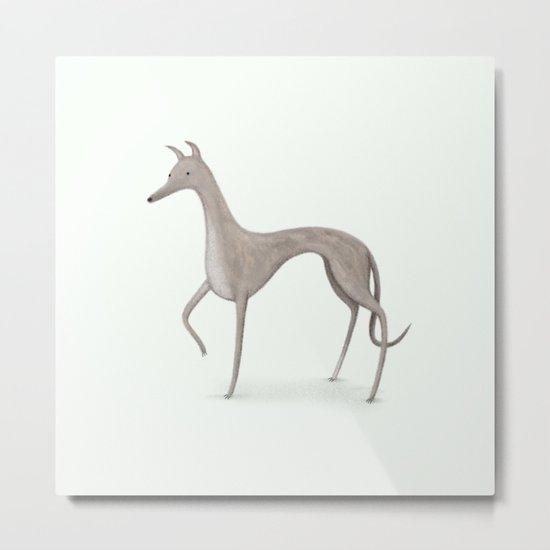 Whippet Portrait Metal Print