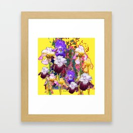 Decorative Blue-Red Spring Yellow & Framed Art Print