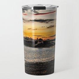 Birnbeck Pier and island Weston-super-Mare Travel Mug