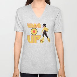 Woman Up!!!! Unisex V-Neck