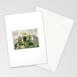 Blue Tits in Magnolia Tree Stationery Cards