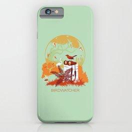 Birdwatcher (reds) iPhone Case