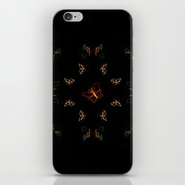 Christmas Lights Pattern - Butterfly iPhone Skin