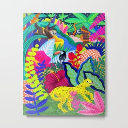 Jungle Party Animals Metal Print