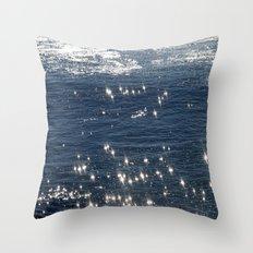 sparkling ocean Throw Pillow