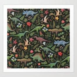 Dinosaur Jungle Art Print