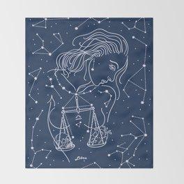 Libra zodiac sign Throw Blanket