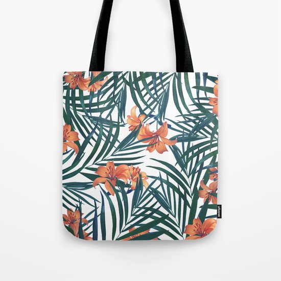 Tropical Lilies Tote Bag