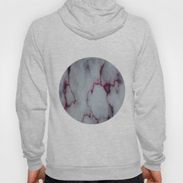 White with Maroon Marbling Hoody