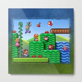 Super Mario 2 Metal Print