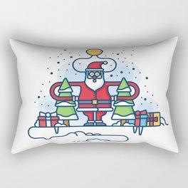 Santa obeys the Moon Rectangular Pillow