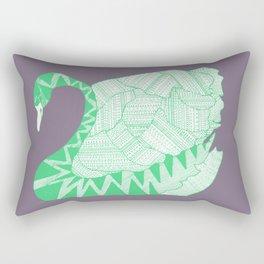 Aztek Swan Rectangular Pillow