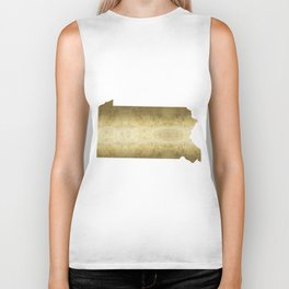 pennsylvania gold foil map Biker Tank