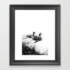 swim, swam Framed Art Print