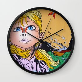 Butterflies and Daydreams Wall Clock
