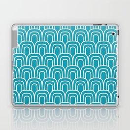 Rainbow Scallop Pattern Turquoise Laptop & iPad Skin