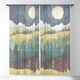 Autumn Moon Sheer Curtain