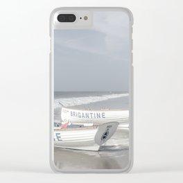 Beach Patrol Brigantine Clear iPhone Case