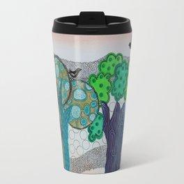 Blue trees Travel Mug