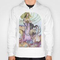 "mucha Hoodies featuring ""Restored"" Mucha Illustration by Katie Haire"