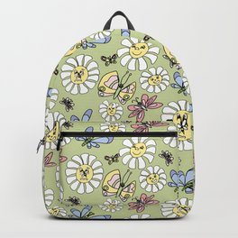 Smiling Flower Faces Backpack