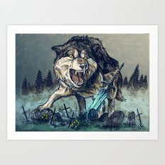 Sif, the Great Grey Wolf Art Print