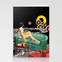 northern lights Stationery Cards featuring Northern Lights by Eugenia Loli