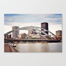 Frederick Douglass–Susan B. Anthony Memorial Bridge   Rochester NY Canvas Print