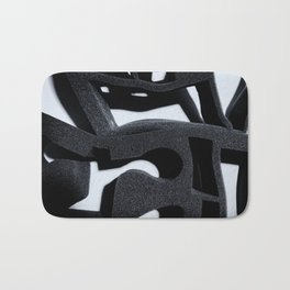 Shadow of Foam Abstract One BW Pattern Bath Mat
