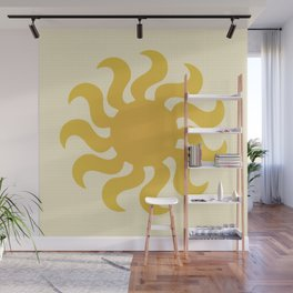 Knitted sun Wall Mural